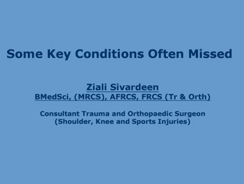 Some Key Conditions Often Missed