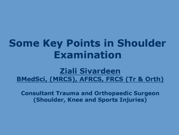 Some Key Points in Shoulder Examination
